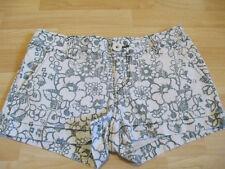 Aéropostale Short Shorts Size 5/6 Green Cream Floral Print Stretch