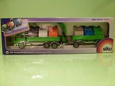 SIKU 3813 IVECO TRUCK + TRAILER - RECYCLING LORRY - DUTCH - GREEN 1:55 - GCIB