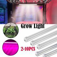 10x LED Grow light Full Spectrum Indoor Plant lamp T8 Tube Bulb light For Plants