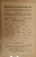 1945/46 Third Division South: BRISTOL CITY v EXETER CITY