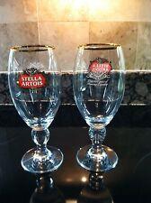 STELLA ARTOIS(BELGIUM) NEW 40CL  (13.5 OZ)  CHALICE PAIR OF  BEER STEM GLASSES