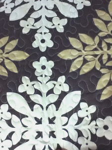 Vintage Twin/Full-Queen/King 2/3pcs Reversible Quilt Bedspread w/ Pillow Sham(s)