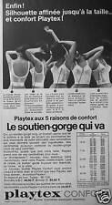 PUBLICITÉ PLAYTEX CONFORT LE SOUTIEN-GORGE BUSTIER A BRETELLES ÉLASTIQUES
