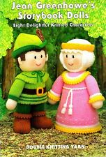 JEAN GREENHOWE KNITTING TOY PATTERNS STORYBOOK DOLLS  - 8 CHARACTERS