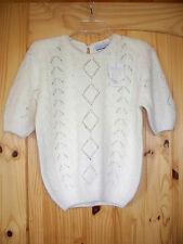 COMPOSITIONS WINTER WHITE SWEATER SILK, ANGORA,LAMBSWOOL NWT SZ S HONG KONG