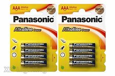 2x Pack 4 PANASONIC Alkaline Batteries AAA LR03 MN2400 AM4 1.5V (8x AAA Battery)