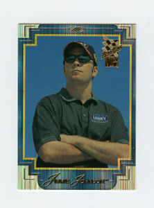 Jimmie Johnson 2002 Press Pass VIP Explosives Lasers Parallel Insert Card #LX16