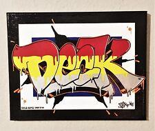 """BANG, Here's DECK! 14"""" x 11"""" Canvas NYC Graffiti Art 2018 BANSKY COPE2 KAWS RD"""