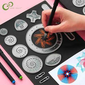 22 Pcs Spirograph Drawing Toy Set Interlocking Gears Wheel Painting Accessories
