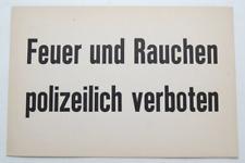 WW2 German Smoking Prohibited Police Sign-Polizei Sign