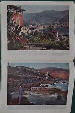 1935 ITALIAN RIVIERA magazine article, people, history etc, color photos
