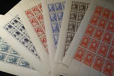 FEUILLE SHEET TIMBRE CÉLÉBRITÉS N°765/770 x25 1946 NEUF ** LUXE MNH COTE 325€
