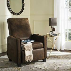 Safavieh Home Collection Holden Coffee and Black Recliner Chair, Brown