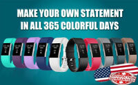 10 Pack Replacement Wristband For Fitbit Charge 2 Band Silicone Fitness Sport