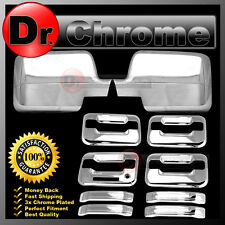 04-08 Ford F150 Chrome Mirror+4 Door Handle+keypad+no PSG keyhole Cover COMBO