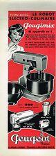 J- Publicité Advertising 1960 Le Robot Peugimix Peugeot Frères
