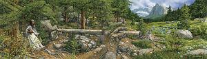 Bev Doolittle MUSIC IN THE WIND 21x28 S/N paper Nature art print mint w/COA