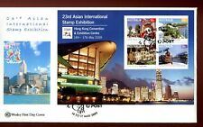 2009 Hong Kong 23rd Asian Stamp Exhib (Tourist Precincts Mini Sheet) Wesley FDC