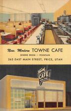 Price, Utah TOWNE CAFE Roadside Fried Chicken c1940s Linen Vintage Postcard