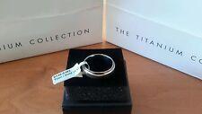 New Mens Titanium & Gold Wedding Band UK size T1/2 US size 10