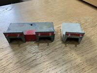 vintage Twin Trix metal model train track BUFFERS 1 x Double 1 x Single Manyways