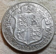 1923 King George V Silver Half Crown Coin Lot 4
