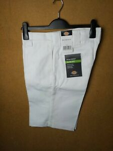 DICKIES WORK SHORTS SLIM FIT SLIM STRAIGHT 32 33 WHITE BNWT NEW WITH TAGS SKATE