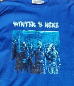 Game of Thrones Shirt Night King Tee Winter Is Here White Walker Unisex Graphic