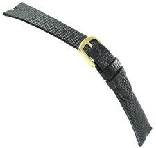 19mm Hadley-Roma Java Lizard Gucci Cut Black Unstitched Watch Band MS 972