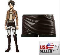 Attack on Titan Cosplay Shingeki no Kyojin Leather skirt hookshot belt costume