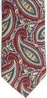 "Lands' End Men's Silk Tie 58.5"" X 3.5"" Multi-Color Abstract Floral Paisley"
