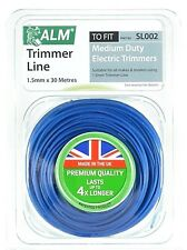 ALM 1.5mm x 30m Azul Podadora Cortasetos Cuerda Cable Flymo BOSCH SL215 MEDIANO