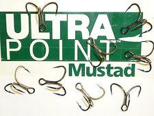 100 Mustad KVD-Elite Triple-Grip 1X Treble Hooks (Size 1/0) TG76NP-BN UltraPoint