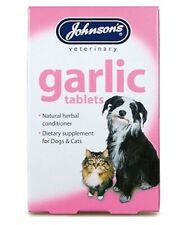 Johnsons Garlic Tablets 200 For Dogs Cats Natural Herb Remedy For Fleas & Worms