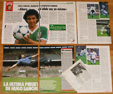 HUGO SANCHEZ coleccion prensa 1980s Real Madrid Atletico Futbol Mexico fotos