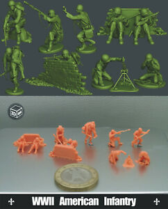 1/144 WWII American Infantry (10 FIGURES) -Fine version 3D