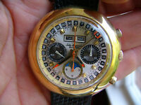 Jules Jurgensen Valjoux 88 vintage chronograph triple date moonphase perfect