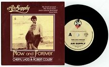"""AIR SUPPLY - NOW AND FOREVER - 7"""" 45 VINYL RECORD w PICT SLV - 1983"""