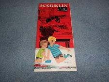 1964/65 MARKLIN TRAIN CATALOG FOLD-OUT BROCHURE ENGLISH ENGINE TRACK ACCESSORIES