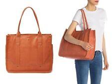 $398 Frye Madison Shopper Women's Leather Tote Weekender Shoulder Bag TERRACOTTA