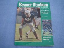 BEAVER STADIUM PICTORIAL Penn State vs Cincinnati Oct 8, 1988 - Free S/H in US