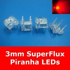 S575 - 20 Piece LEDs 3mm RED SUPERFLUX PIRANHA 80° Red