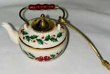 "New ListingLenox Ornaments Holly Berry 2"" Teapot"