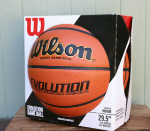 """New Wilson Evolution Official Indoor Game Ball 29.5"""" Basketball Composite"""