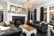 Chesterfield Design Luxus Polster Sofa Couch Sitz Garnitur Leder Vintage Neu 124