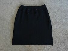 Womens Alannah Hill Black Stretch Knit Skirt, Size 12