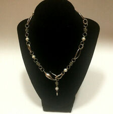Michael Dawkins Sterling Silver 14K Cultured Freshwater Pearl Necklace