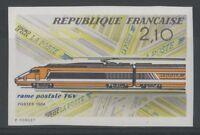 """FRANCE YVERT 2334 SCOTT 1937 """" HIGH SPEED TRAIN MAIL IMPERF 1984 """" MNH VVF  M119"""