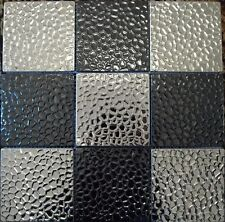 Stainless Steel Mosaic Wall Tiles - silver & black