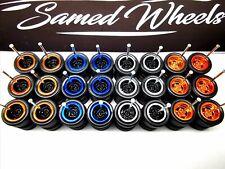 Samed Wheels 5 bolt 12 set 4 color mix for 1:64 model car rubber tire #44